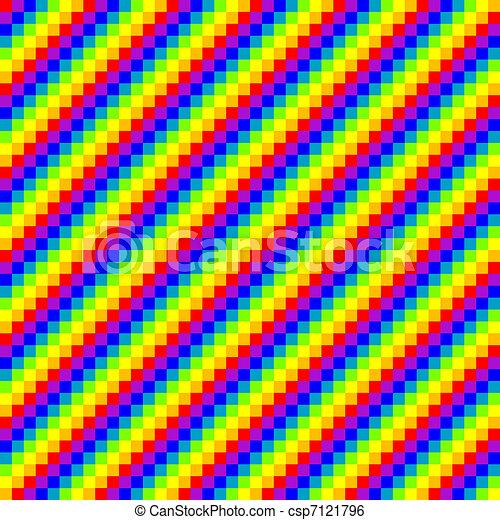 Seamless Pixel Rainbow Background