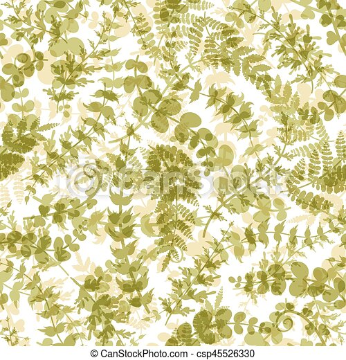 Seamless Plant Background Vector