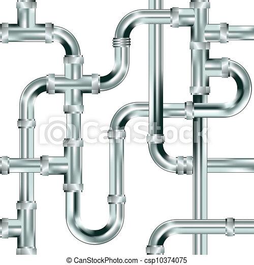 Seamless plumbing background - csp10374075