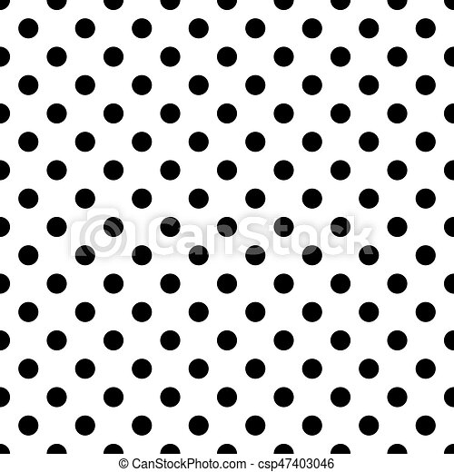 Seamless polka dot pattern black dots on white background vector illustration