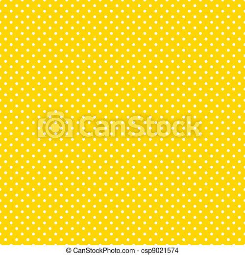 Seamless Polka Dots, Bright Yellow - csp9021574