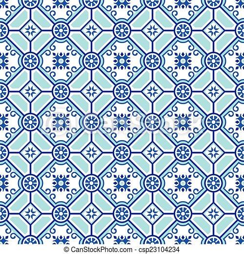 Seamless pottery pattern - csp23104234