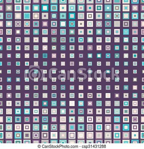seamless, próbka, kwadraty - csp31431288