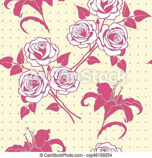 Patrón floral sin costura - csp46159254