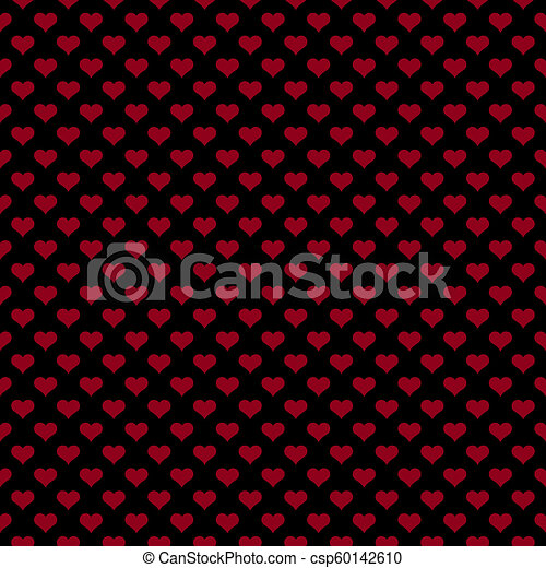 Seamless Red Black Heart Pattern Seamless Pattern Of Small Red