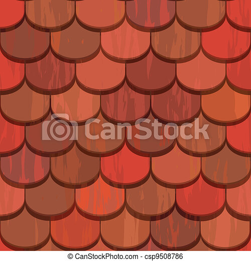 Seamless red clay roof tiles - csp9508786