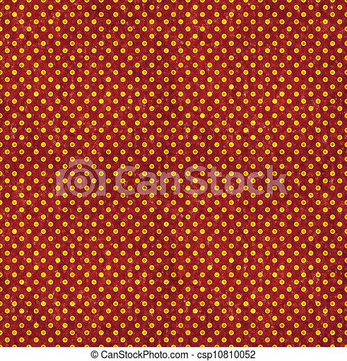 Seamless Red & Gold Polka Dot - csp10810052