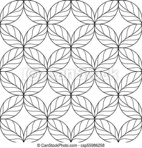 Seamless Repeating Linear Leaves Pattern