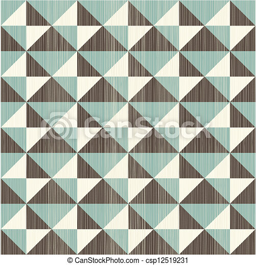 seamless retro abstract pattern in blue grey and brown - csp12519231