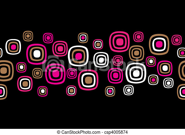 Seamless Retro Abstract Vector Background - csp4005874