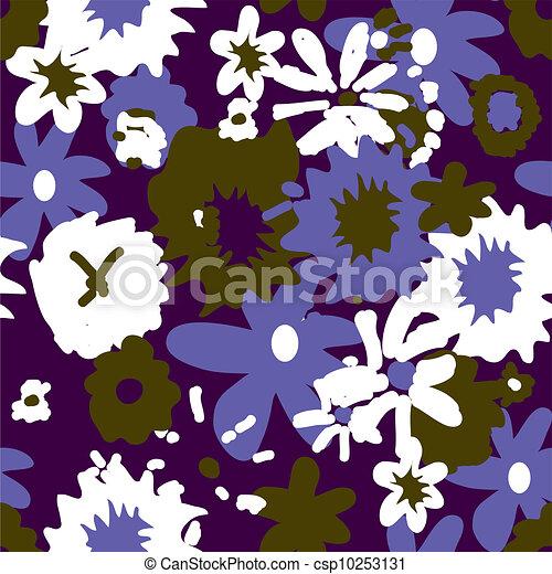 Seamless retro floral background dark colors - csp10253131