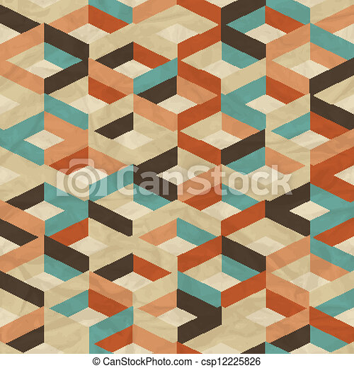 Seamless retro geometric pattern. - csp12225826