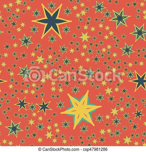 Seamless Retro Red Wallpaper Design Print