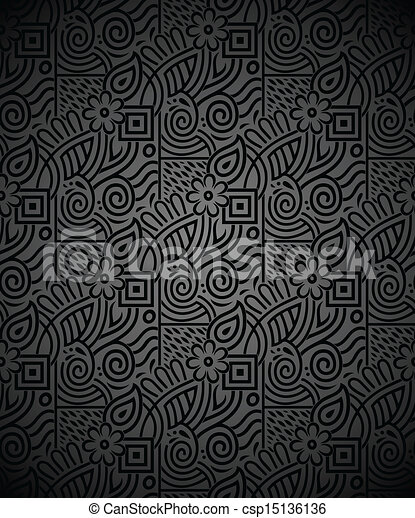 Seamless Rich Black Wallpaper