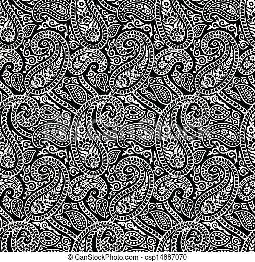 Seamless Rich Paisley Wallpaper