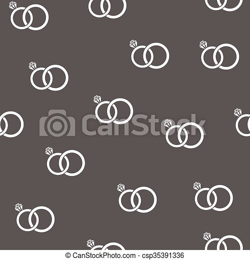Seamless Rings Vector Seamless Wedding Rings Background