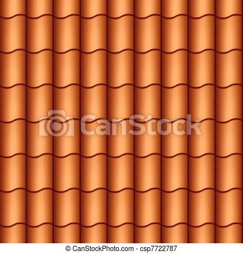 Seamless roof tiles - csp7722787