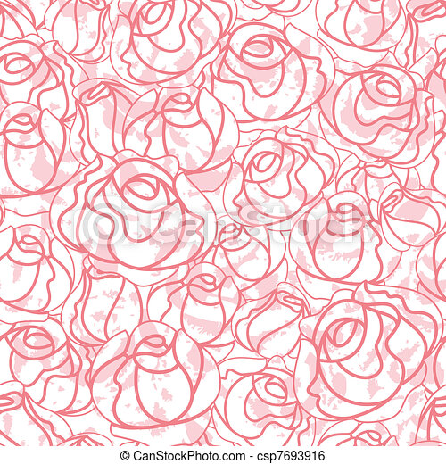 Seamless roses pattern, backdrop - csp7693916