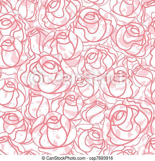 Seamless roses pattern, backdrop - csp7693916