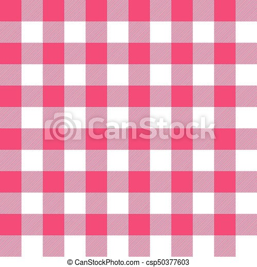 Seamless Ruby Red Gingham Pattern Wallpaper Background