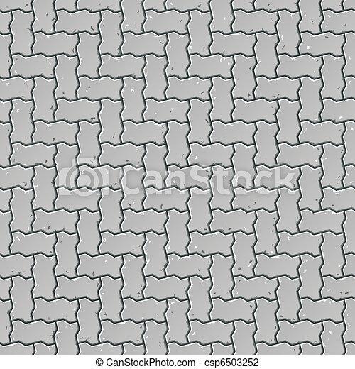 Seamless sidewalk pattern - csp6503252