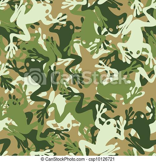 Seamless skull camouflage pattern - csp10126721