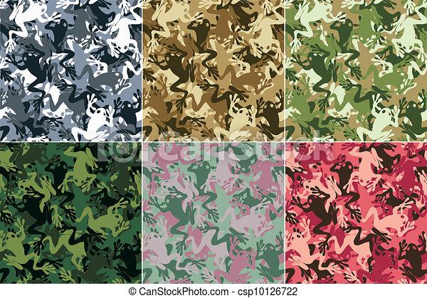 Seamless skull camouflage pattern - csp10126722