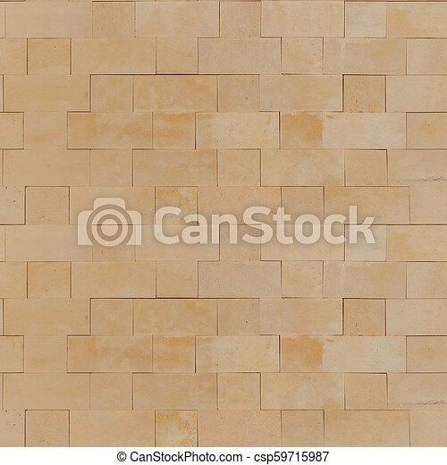 . Seamless Smooth Yellow Stone Blocks Wall Texture
