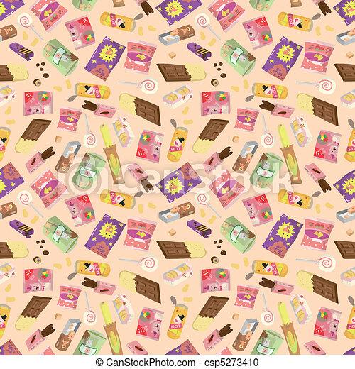 seamless snacks pattern  - csp5273410