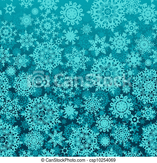 Seamless snow flakes vector pattern. EPS 8 - csp10254069