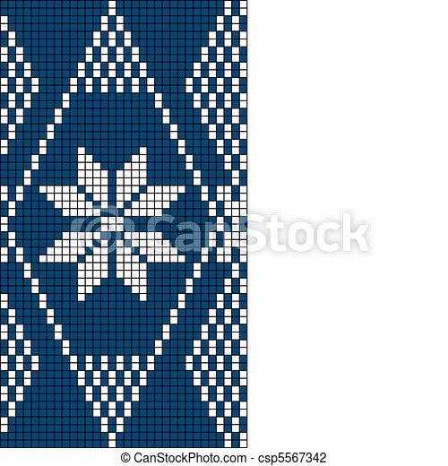 Seamless Snowflake Knit Pattern