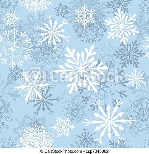 seamless snowflakes background - csp7845002