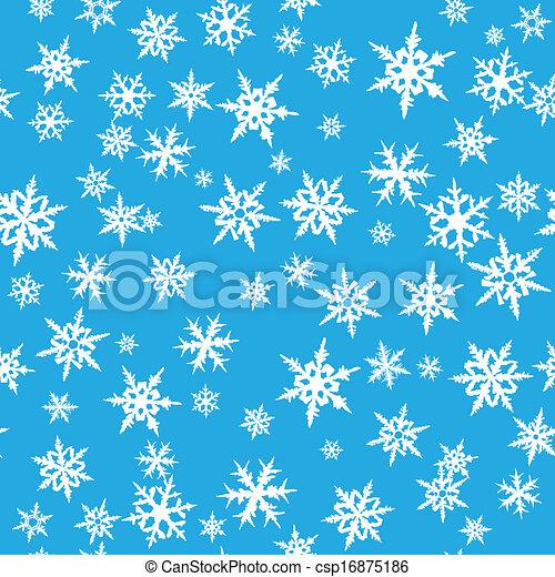 Seamless snowflakes - csp16875186