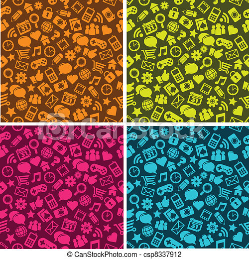 Seamless Social Media Pattern - csp8337912