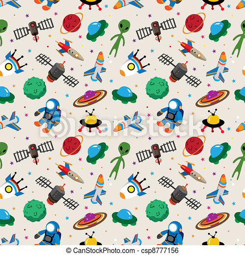 seamless space pattern - csp8777156
