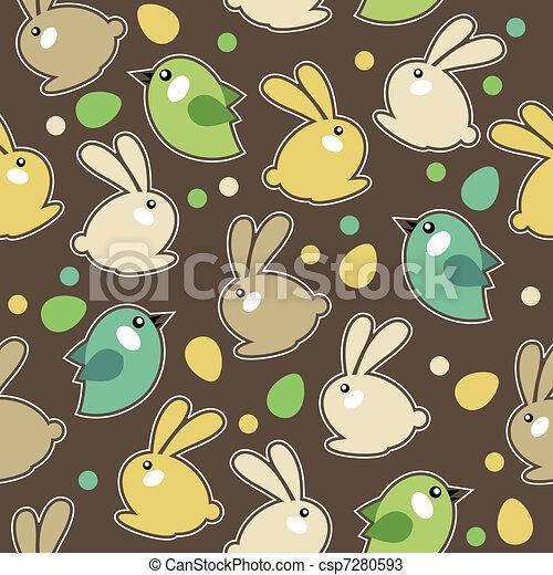 Seamless spring pattern - csp7280593