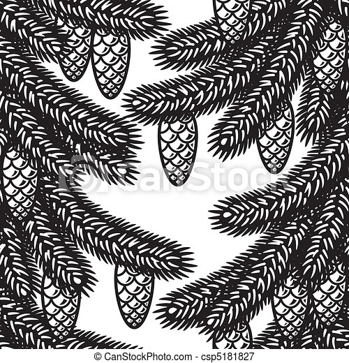 Seamless spruce background - csp5181827