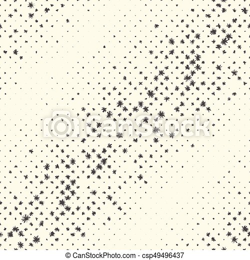 Seamless Star Pattern. Vector Black And White Christmas Background