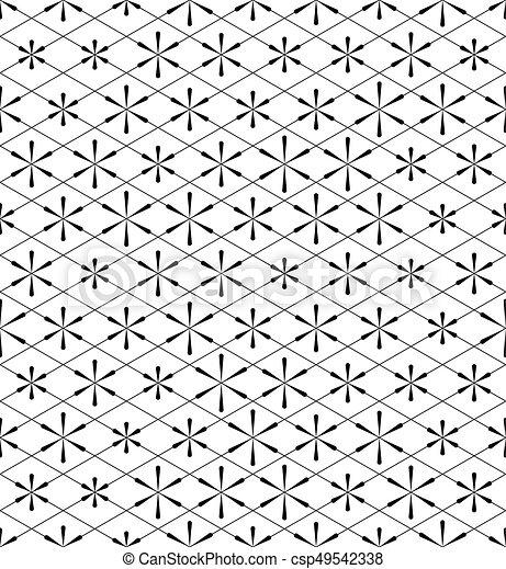 White Christmas Background.Seamless Star Pattern Vector Black And White Christmas Background