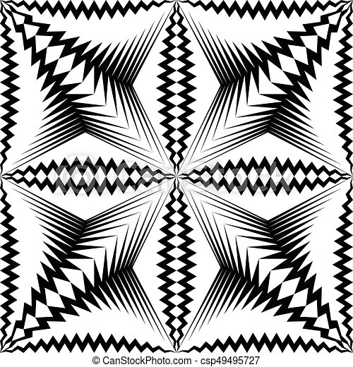Seamless Star Pattern. Vector Black And White Wrappimg Paper Background