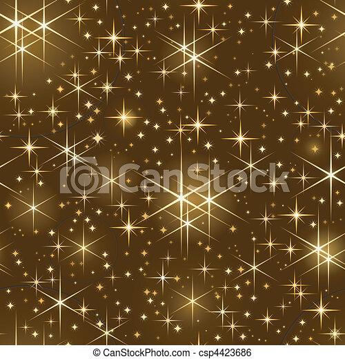 Seamless starry sky, christmas spar - csp4423686