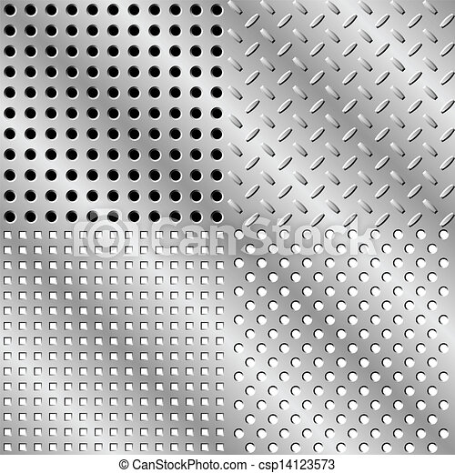 Seamless steel background - csp14123573