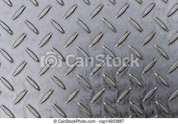 Seamless steel diamond plate texture - csp14933887
