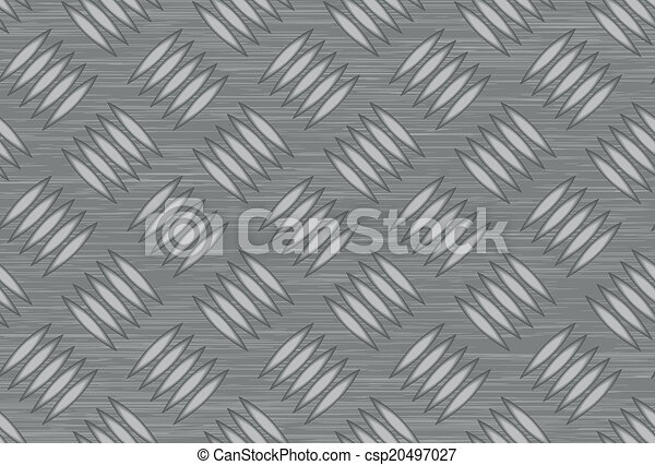 Seamless steel diamond plate vector - csp20497027