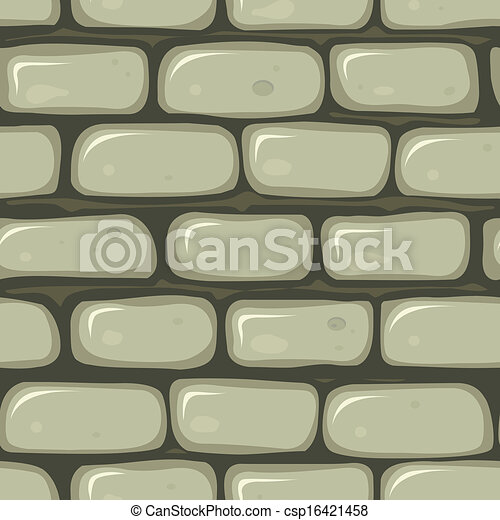 seamless stone wall illustration of a seamless cartoon old stone