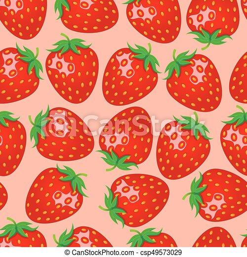 Seamless Strawberry Pattern Beauteous Strawberry Pattern