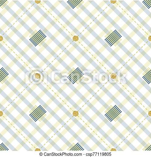 seamless stripe pattern background with gold dot glitter - csp77119805