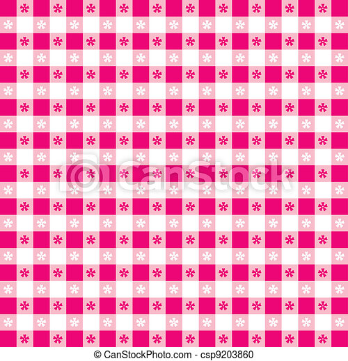 Seamless Tablecloth Gingham Pattern - csp9203860