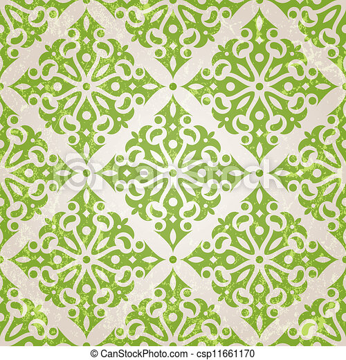 seamless, tapete, weinlese - csp11661170