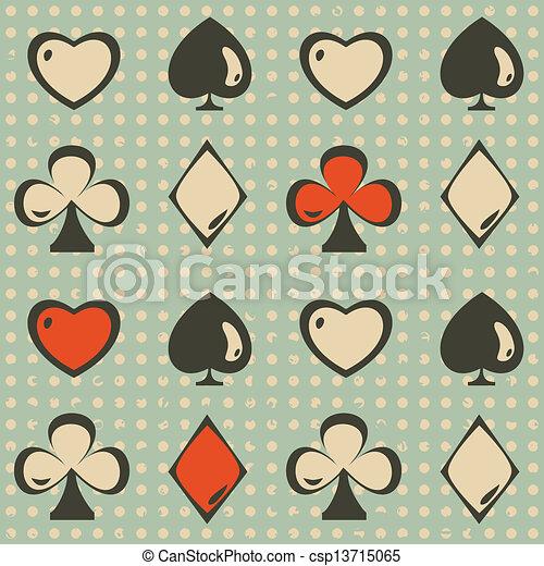 Traje de cartas sin costura - csp13715065
